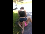 Girl gets head busted