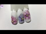 Простой и красивый дизайн ногтей. Рисуем цветы. Рисунки на ногтях. Урок маникюра. Дизайн ногтей. Весна