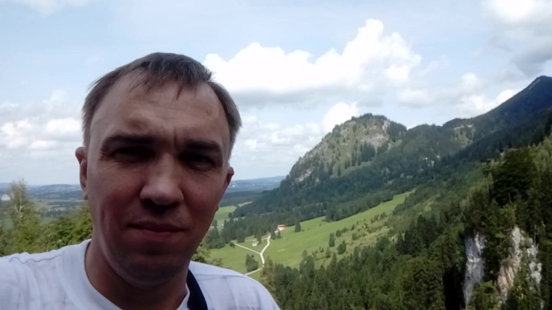 Потрясающий вид на баварские и австрийские Альпы