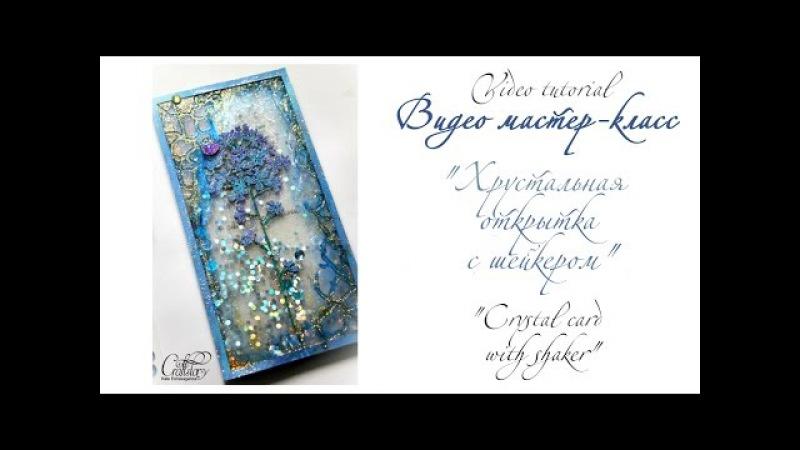 Видео мастер-класс Хрустальная открытка-шейкер/Video tutorial Crystal card with shaker