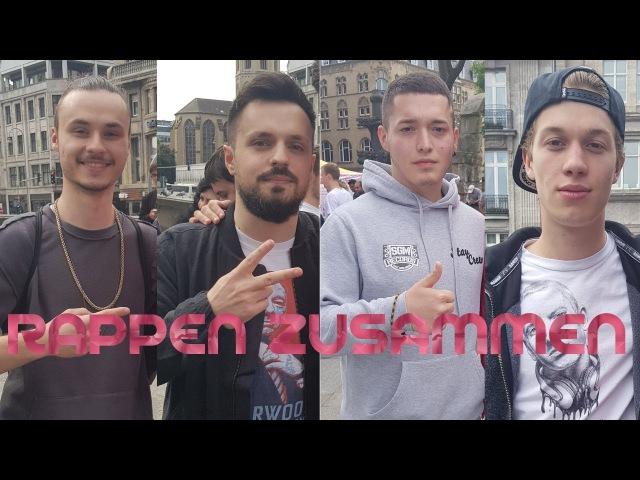 ShimmyMC CASHISCLAY KRICKZ Und AyLien Rappen spontan auf Fantreff ● Rapper Alarm 1