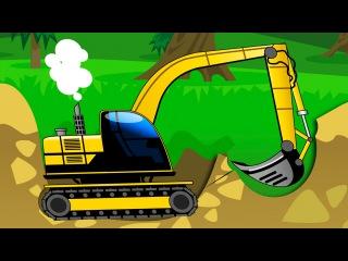 Der Gelbe Bagger und Der Traktor - Die große Autos für Kinder - Cartoon für Kinder