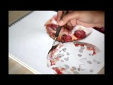 Watercolor Food Painting - Pizza by enon de belen