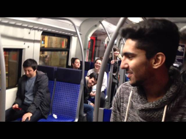 Subway jam 2 Frankfurt S-bahn Heidi Joubert featuring Kiddo Kat random passenger joining in