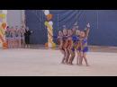Художественная гимнастика ВЕСЕННИЕ КРАСКИ Улыбки 2010-2011г.р. БП групповые упражн