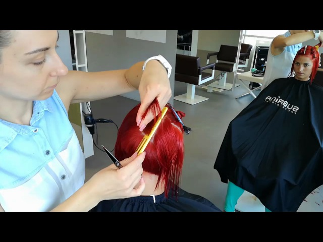 Graduated bob with disconnection - tutorial by Barber Girl