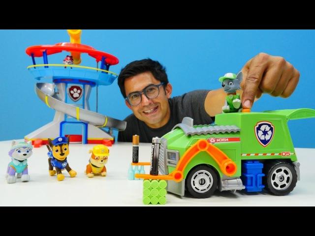 NailBaba ve PawPatrol istasyondaki atıkları topluyor♻ Eğlenceli video çocuklar için.