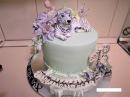 Торт Сникерс!! Оформление сахарными цветами и тигром из мастики!
