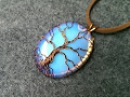 Pendant Tree of Life with big stone no holes - Wire Wrapping stones 206