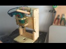 Homemade Drill Press - Lathe - Disc sander, 3 in 1 - El yapımı torna, Zımpara Makinesi, Matkap Pres