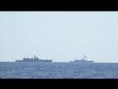 Удар крылатыми ракетами Калибр по объектам ИГИЛ в Сирии кораблями ВМФ РФ в Сре