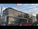 В Махачкале загорелась крыша пятиэтажного дома