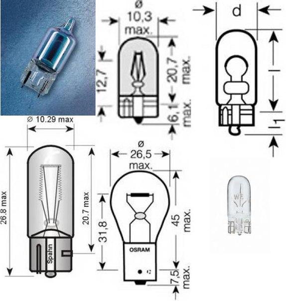 Лампа накаливания, фара заднего хода для BMW Z4 купе (E86)