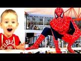 #СУПЕРГЕРОИ в Фитнес Клубе! :) Бэтмен Супермен и #Спайдермен на тренировке. Spiderman Batm...