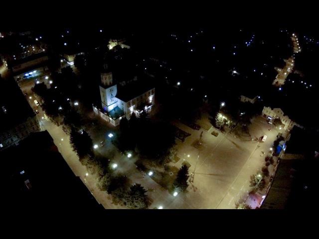 Вечірній Самбір. Аерозйомка ( Sambir Air Video )