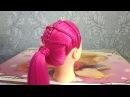Прическа для средних волос ★ Плетение с хвостом