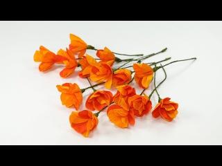 DIY Crafts: Duplex Crepe Paper Flowers (Orange Poppy Flower Craft)