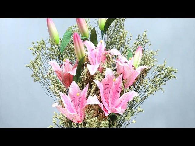 10.1: Làm hoa ly bằng giấy nhún - Didahaa.com: Chia sẻ link QC kiếm tiền