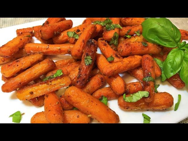 МОРКОВЬ пикантная в духовке. Просто, Полезно и Вкусно! Съели за 5 мин. Baked Carrots