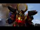 Legendary Samurai Megazord Debut Fight Power Rangers Super Megaforce.