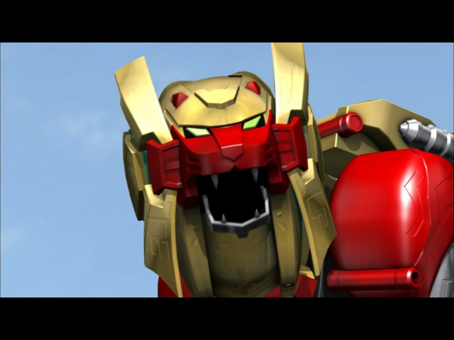 Lion Zord and Legendary Wild Force Megazord Debut Fight (Power Rangers Super Megaforce).