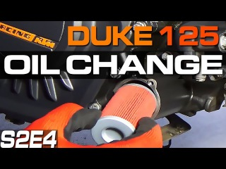 KTM Duke 125 200 390 Oil Change Filter Change Motul KN KN-155 Wymiana Oleju i Filtra S02E04