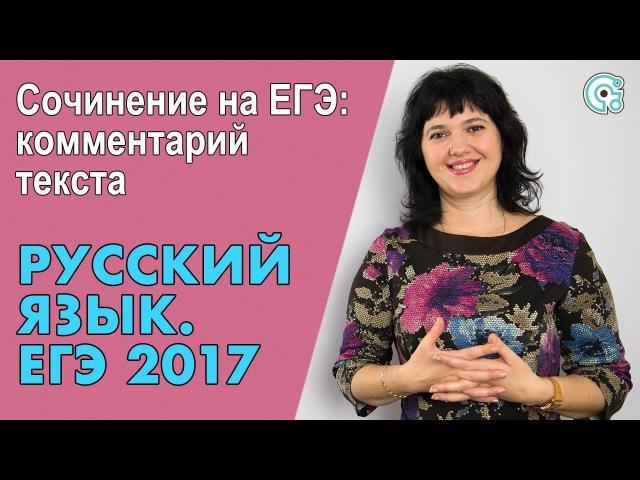 ЕГЭ по Русскому языку 2019. Сочинение на ЕГЭ: комментарий текста