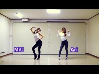 T-ara(티아라)lovey dovey dance tutorial 러비더비★ Waveya Ari Miu - kpop cover dance