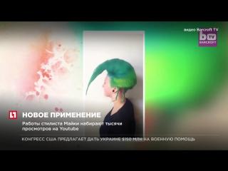 Австралиец создает из волос разноцветные фигуры овощей и животных