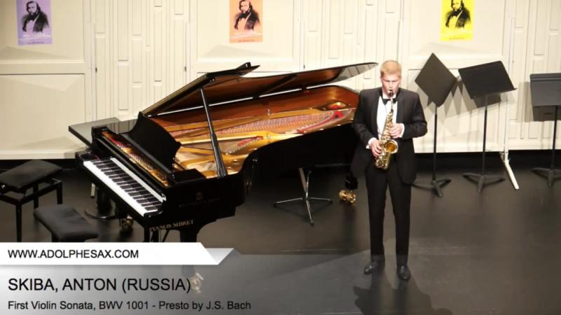 Dinant 2014 - SKIBA Anton (First Violin Sonata BWV 1001 - Presto by J.S. Bach)