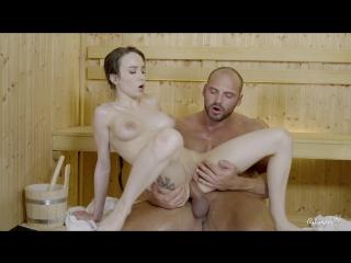 Beautiful Russian babe Angel Rush rides cock and gets facial at the sauna [Blowjob,Big Tits,All Sex,New Porn 2017]