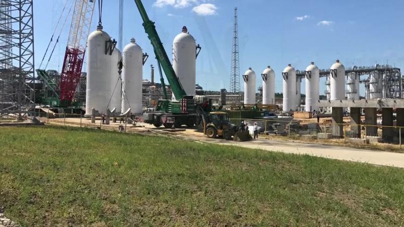 КС Казачья. Июль 2017 . Абсорбер 225 тонн.