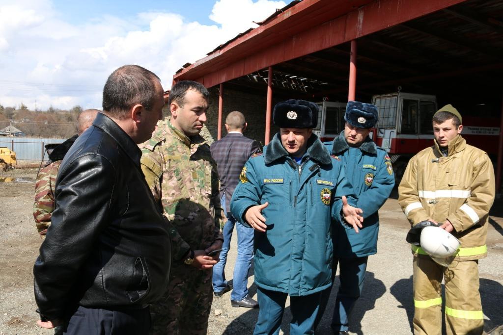 В станице Сторожевой прошла командно-штабная тренировка по организации тушения лесных пожаров