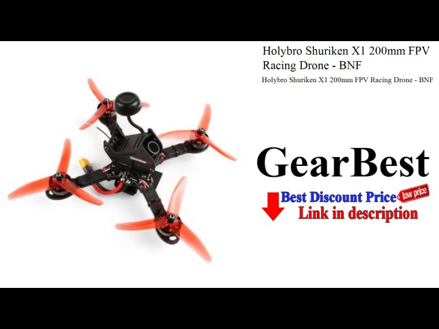 Holybro Shuriken X1 200mm FPV Racing Drone - BNF - Review | GearBest unboxing