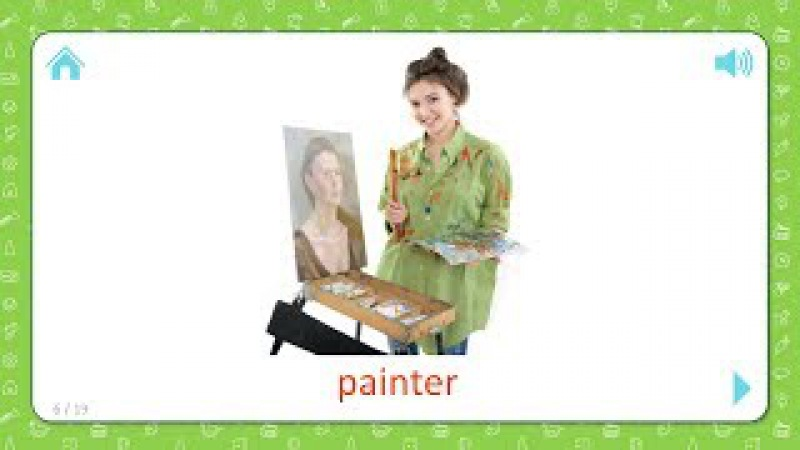 Painter - Professions - Flashcards for Kids