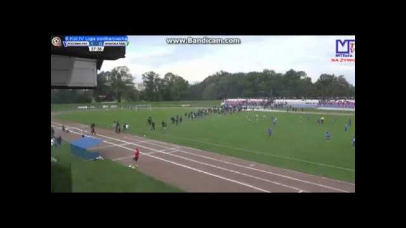 Polonia Przemyśl - Wisłoka Dębica awantura na meczu (16/09/2017)