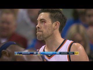 Nick Collison Injury | Grizzlies vs Thunder | February 3, 2017 | 2016-17 NBA Season