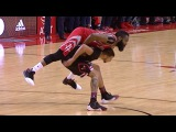 James Harden lays on top of Michael Carter Williams  Bulls vs Rockets  Feb 3, 2017