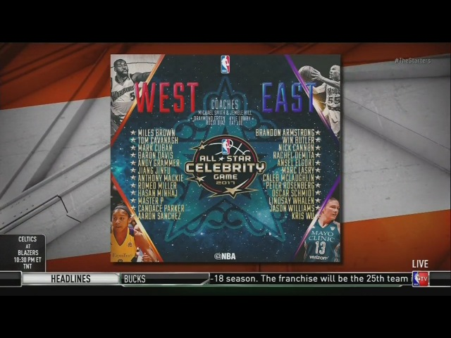 2017 NBA All-Star Celebrity Game Rosters Announcement | 2017 NBA All-Star Weekend