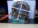 Вращающееся МП, демонстрация, Rotating magnetic field demonstration