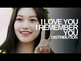 I.O.I - I Love You I Remember You : Line Distribution (From 'Moon Lovers'   Color Coded)