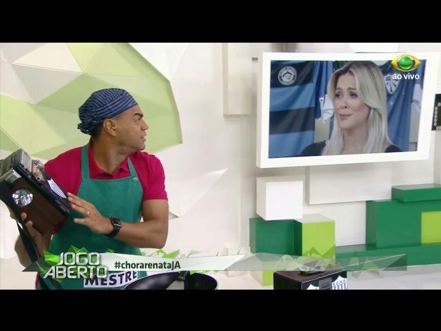 Renata Fan CHORA com zueira de Denílson Show no Jogo Aberto   08/05/2017