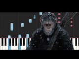 Michael Giacchino - Exodus Wounds - War for the planet of the Apes Soundtrack(Piano Tutorial )