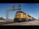 Живописное видео полета дрона над движущимся поездом