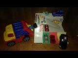 Играем мусоровозом,монстрамы,лунтик катается на машине.наш цветной гараж.
