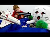 Видео для детей игрушки #Майнкрафт. Стив и Егор на острове мобов. Как выбраться  ...