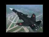 Sukhoi Su-47 Berkut experimental supersonic jet fighter