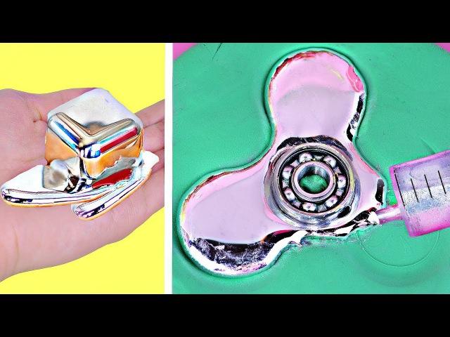 DIY ЖИДКИЙ МЕТАЛЛ / СПИННЕР / ЭКСПЕРИМЕНТЫ/ ЛАЙФХАКИ / Галлий / DIY Gallium Fidget Spinner
