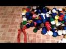 Делаем коврик в ванную из крышек Bathroom mat made of bottle caps
