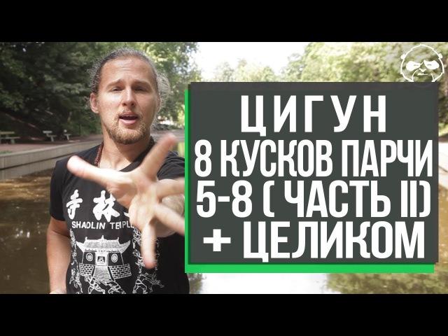 Комплекс Цигун Ба Дуань Цзинь Восемь кусков парчи 5 8 движение и целиком Максим Кожевников